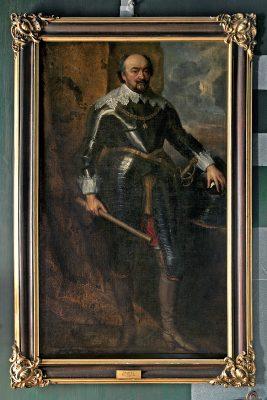 Anthonis van Dyck (und Werkstatt), Johann VIII. von Nassau-Siegen, Öl auf Leinwand, gerahmt, 194 × 114 cm; Schloss Erbach; © Foto: Renate J. Deckers-Matzko