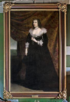 Gerard van Honthorst, Amalia von Solms, Öl auf Leinwand, gerahmt, 197 × 118 cm; Schloss Erbach; © Foto: Renate J. Deckers-Matzko