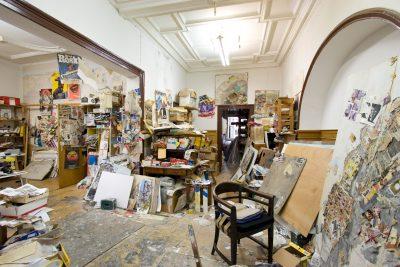Ehemaliges Atelier von Norbert Nüssle in Mannheim © Foto: Gert Reinhardt ⅼ www.fabrikstation.de
