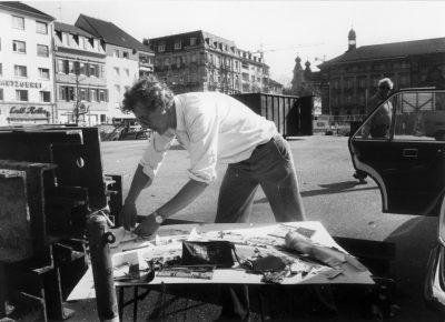 Norbert Nüssle auf D5 arbeitend © Foto: Gudrun Keese / Pit Steiger