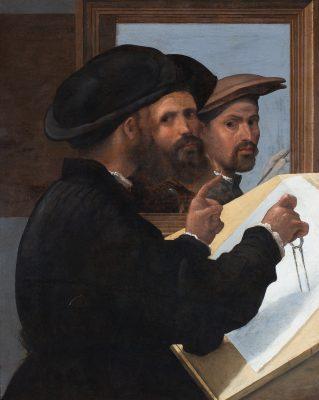 Bernardino Licinio, Künstlerfreunde im Spiegel, um 1530; © Martin von Wagner Museum der Universität Würzburg