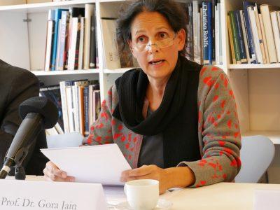 Prof. Dr. Gora Jain; Pressekonferenz Künstlervor- und -nachlässe © Foto: Johannes Fellmann