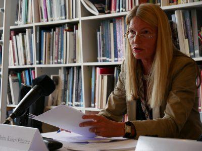 Dr. Britta Kaiser-Schuster; Pressekonferenz Künstlervor- und -nachlässe © Foto: Johannes Fellmann