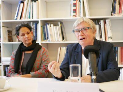 Prof. Dr. Gora Jain, Karin Nüssle; Pressekonferenz Künstlervor- und -nachlässe © Foto: Johannes Fellmann