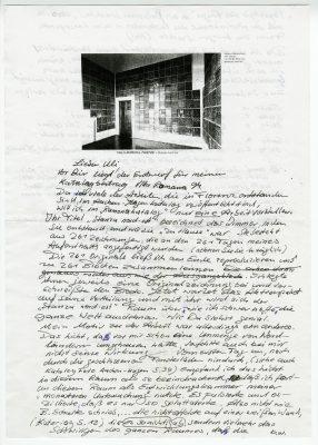 Schriftverkehr zwischen dem Maler Herbert Bardenheuer und dem damaligen Direktor des Sprengel-Museum Hannover, Ulrich Krempel, aus dem Rheinischen Archiv für Künstlernachlässe, 1994 © RAK