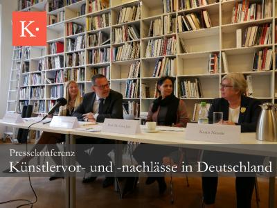 Pressekonferenz Künstlernachlässe Kulturstiftung der Länder