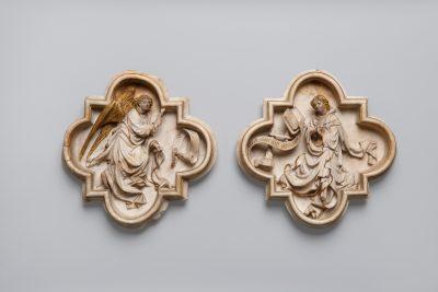 Verkündigung an Maria, Burgundische Niederlande oder Frankreich, um 1410–1420, Foto: Rheinisches Bildarchiv Köln / M. Mennicken