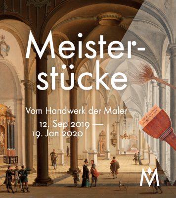 """Plakatmotiv zeigt das Innere einer Kirche im gotischen Geschmack, es ist das Plakatmotiv für die Ausstellung """"Meisterstücke"""" im Historischen Museum Frankfurt, eine Ausstellungsförderung der Kulturstiftung der Länder"""