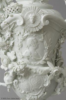 Detail des Bildnisses Ludwig XV.