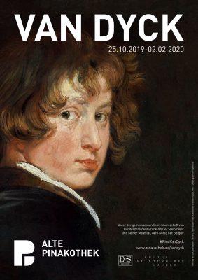 Ausstellungsplakat VAN DYCK in der Alten Pinakothek München