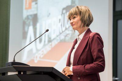 Barbara Ludwig, Oberbürgermeisterin der Stadt Chemnitz, Präsentation Chemnitz; Foto: Ralf Rühmeier/KMK