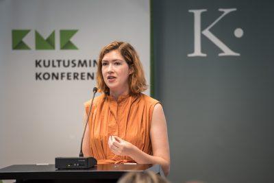 Hannah Gibson, Schauspielerin, Präsentation Hannover; Foto: Ralf Rühmeier/KMK