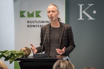Thomas Harling, Bewerbungsleiter Hildesheim, Präsentation Hildesheim; Foto: Ralf Rühmeier/KMK