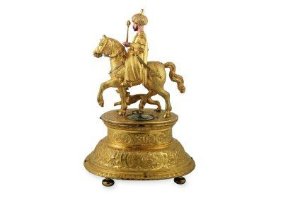 Automatenuhr um 1580, einen Osmanischen Reiter zeigend