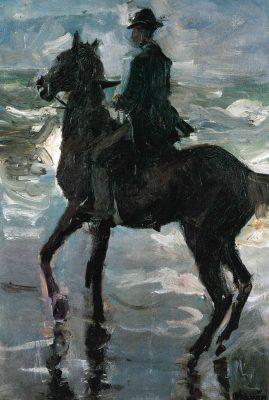 Liebermanns Reiter am Meer, Ölgemälde, 1900