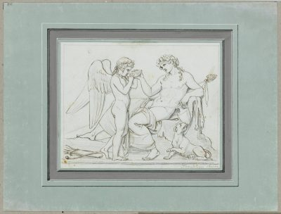 Bertel Thorvaldsen, Bacchus und Amor, aus dem Künstlerstammbuch Blankenhagen, erworben mit Unterstützung der Kulturstiftung der Länder
