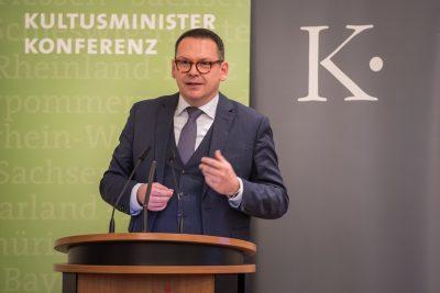 Prof. Dr. Markus Hilgert, Generalsekretär der Kulturstiftung der Länder, Eröffnungsrede vor der Bekanntgabe; © Kulturstiftung der Länder/Ralf Rühmeier