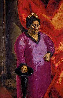 Otto Dix, Bildnis der Kunsthändlerin Johanna Ey, 1924, 140×90 cm; Kunstsammlung Nordrhein-Westfalen, Düsseldorf; © VG Bild-Kunst, Bonn 2019