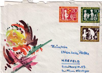 Rolf Dieter Brinkmann, Brief an Elisabeth Piefke, 1959; © Arbeitsstelle Rolf Dieter Brinkmann, Vechta
