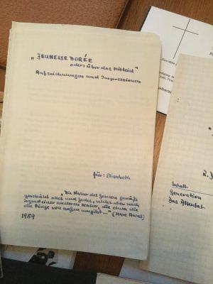 Rolf Dieter Brinkmann, Hefte 1957/58; © Arbeitsstelle Rolf Dieter Brinkmann, Vechta