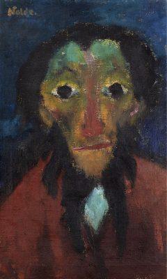 Emil Nolde, Rentner, 1920, 65 × 40 cm; © Stiftung Seebüll Ada und Emil Nolde, Foto: Philipp Ottendörfer