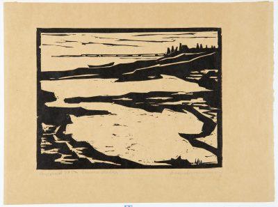 Emma Ritter, Überschwemmung, 1911, 255× 340mm; Landesmuseum für Kunst und Kulturgeschichte Oldenburg; Foto: Sven Adelaide