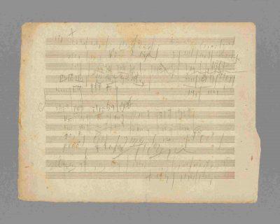 Ludwig van Beethoven, Skizzenblatt zum 4. Satz von Beethovens Streichquartett op. 127, 1824/25, Seite 2, Beethoven-Haus Bonn; © Auktionshaus Stargardt