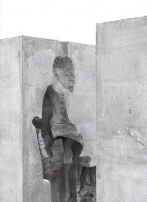 Ai WeiWei, man in cube, 2017; © Stiftung Lutherhaus Eisenach (Galerie Neugerriemschneider)