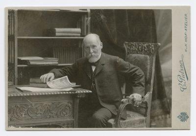 ca. 1900er Jahre; Carte de Visite mit dem Portrait von Hans Heinrich Reclam, dem Sohn des Verlagsgründers Anton Philipp Reclam - fotografiert von Carl Pietzner; © DLA Marbach