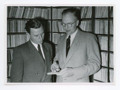 ca. 1950er Jahre; Archiv Reclam Verlag - Heinrich und Rolf Reclam, im Stuttgarter Reclam Verlag; © DLA Marbach