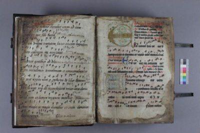 Seiten mit Notation und Text nach der Restaurierung, Foto: Vera Gremme, Antje Brauns