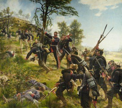 Anton von Werner, Sturm auf den Spicherer Berg, 1880; Ölgemälde H: 3,35 m, B: 3,72m , Historisches Museum Saar, Saarbrücken; © Historisches Museum Saar, Foto: Thomas Roessler