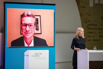 Staatsminister Bernd Sibler, Preisverleihung KULTURLICHTER 2020 – Deutscher Preis für Kulturelle Bildung; Foto: ©Holger Kursikowski