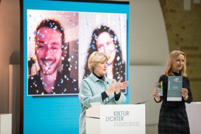 Verleihung Preis des Bundes, Preisverleihung KULTURLICHTER 2020 – Deutscher Preis für Kulturelle Bildung; Foto: ©Holger Kursikowski