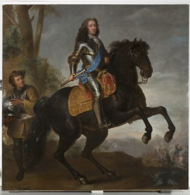 Hermann Hendrik de Quitter, Reiterbildnis Landgraf Carl, um 1703, Öl/Leinwand, 275 × 275 cm; © Museumslandschaft Hessen-Kassel, MHK, Gemäldegalerie Alte Meister, Foto: Karen Bartsch, GK 1248
