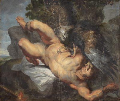 Peter Paul Rubens (Werkstatt), Der gefesselte Prometheus, um 1613/14, Öl auf Leinwand, 199 × 220 cm; © Foto: Sven Adelaide, Landemuseum für Kunst und Kulturgeschichte Oldenburg