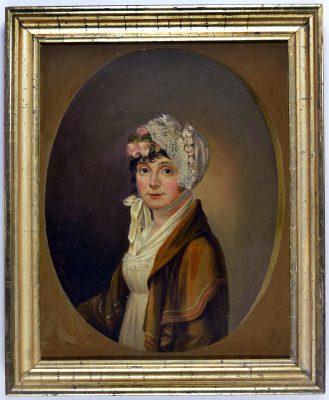 Georg Friedrich Kersting, Porträt der Magdalena Maria Damert,1809, Öl a. Lwd. 34,2 x 27,0 cm; Museum der Barlachstadt Güstrow, Foto: Uwe Seemann, Güstrow
